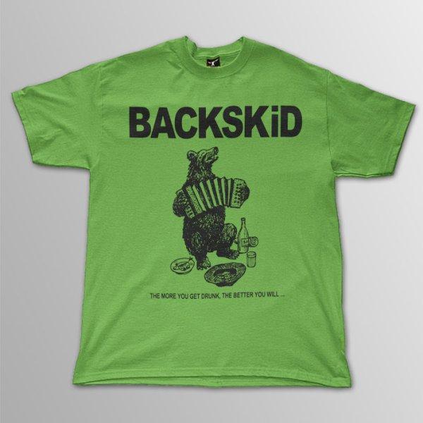 画像1: BACKSKiD / Bear ライトグリーン T/S (1)